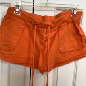 Orange Cotton Beach or Lounge Shorts